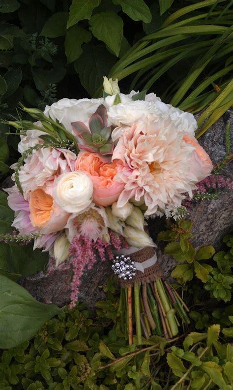 cafe au lait dahlia peach garden roses ranunculus