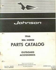 1966 Johnson Outboard Accessories Parts Catalog Manual