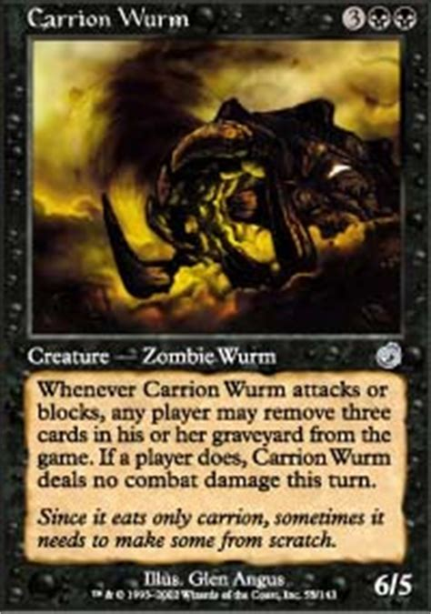 carrion wurm torment magic the gathering online
