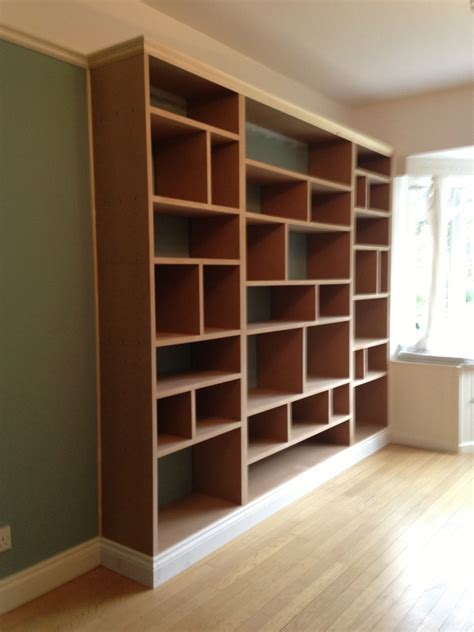 how to build a bookcase wall unit fitted shelving cupboards and flooring p d carpentry