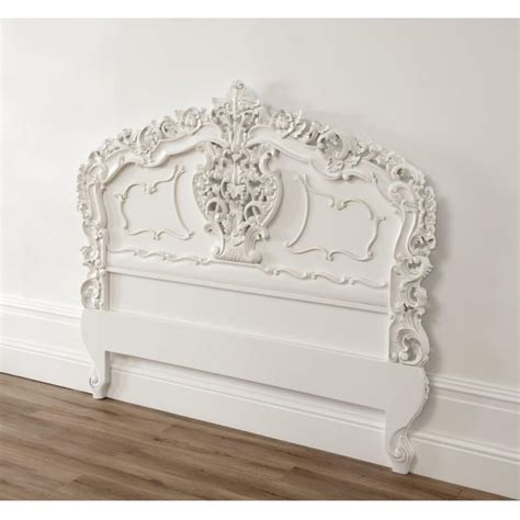 Antique Style Headboards by White Rococo Antique Headboard A Fantastic Addition