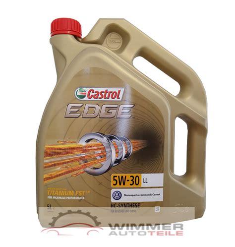 castrol 15669e edge motoröl titanium fst 5w 30 ll 5l 1x 5 liter castrol edge fst 5w 30 motor 246 l vw 504 00 507 00 longlife audi skoda ebay