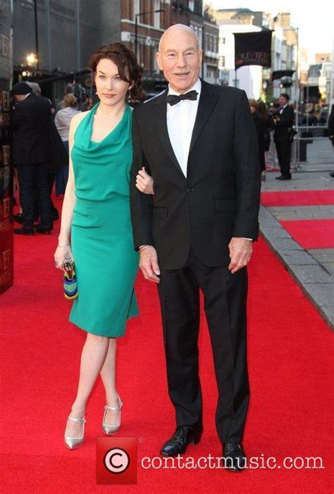 patrick stewart wife photo patrick stewart the olivier awards 2012 held at the