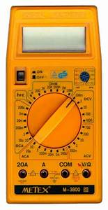 Metex M 3800 Multimeter Manual