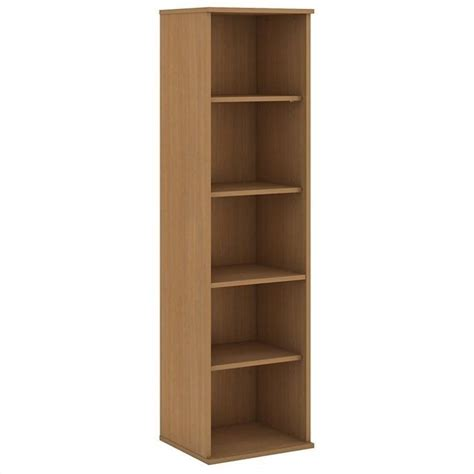 5 shelf narrow bookcase bush business 66h 5 shelf narrow bookcase in modern cherry