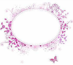 pink border png | png frames category 460 views floral ...
