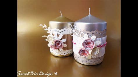 Candele Decorate by Candele Decorate Fai Da Te Gift Idea Decorated Candles
