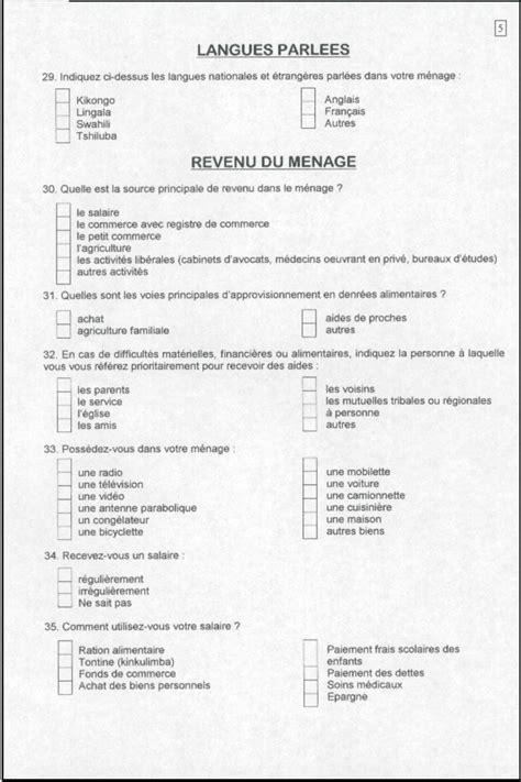 changement du bureau d une association enquête socio économique des ménages à lubumbashi 2002
