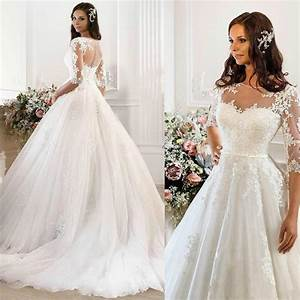 vintage wedding dresses 2015 cheap illusion applique With affordable vintage wedding dresses