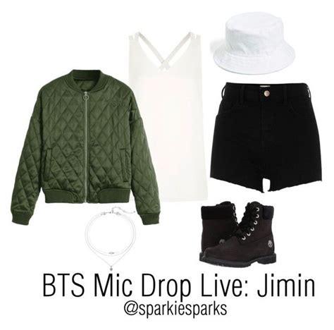 BTS Mic Drop Live Jimin   Jimin Timberland and River island