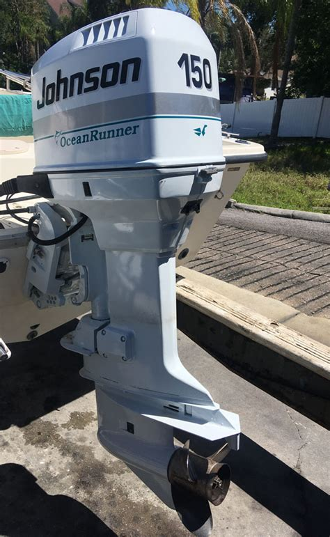 hp johnson ocean runner outboard motor  sale