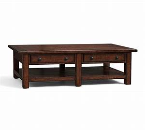 benchwright rectangular coffee table rustic mahogany With rustic mahogany coffee table