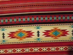 Navajo Indian Terracotta Border Orange Blue Yellow Print ...