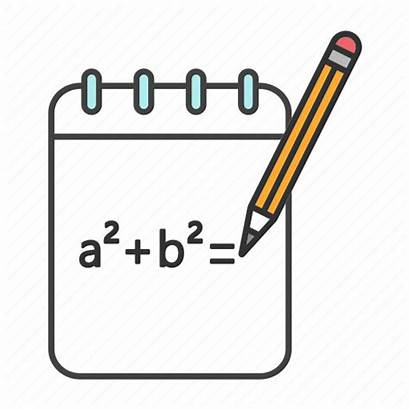 Math Algebra Formula Icon Mathematics Draft Notebook