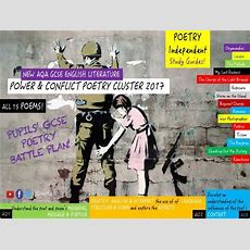 Pupils' Complete Gcse Poetry Independent Study Guide Bundle! Power & Conflict (all 15 Poems
