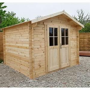 Abri De Bois : abri de jardin bois massif 9m madriers 28mm gardy shelter ~ Melissatoandfro.com Idées de Décoration