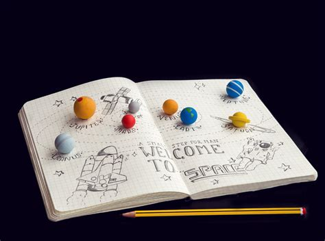 solar system erasers  tiny planets   rubber