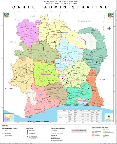 La Cote Divoire C 244 Te D Ivoire Administrative Populationdata Net