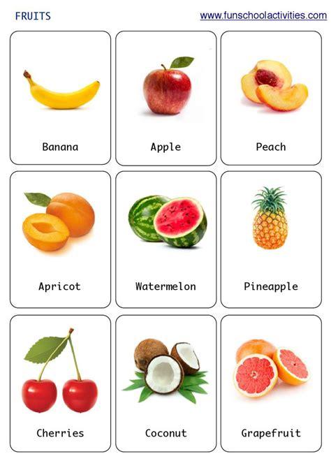 Printable Fruits Flashcards  Καρτες για ανάπτυξη λεξιλογιου  Pinterest  English Class