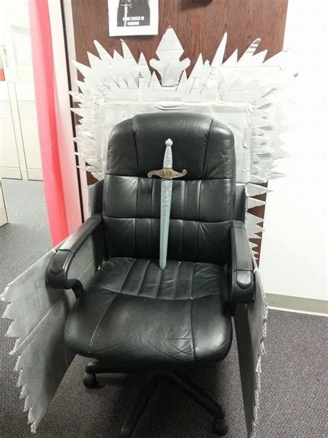diy iron throne game  thrones lannister office