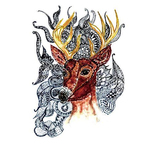 tatouage ephemere cerf mandala fit  tattoo