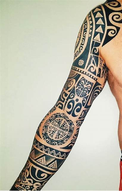 Tattoo Polynesian Sleeve Maori Tattoos Arm Tribal
