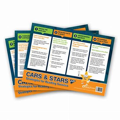 Reading Strategies A3 Stars Cars Poster