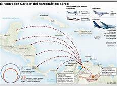 Infografía Rutas del narcotráfico aéreo El Heraldo