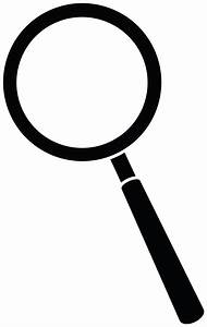 Magnifying Glass Silhouette - Free Clip Art
