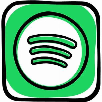 Spotify Playlist Social Icon Radio Songs Icons