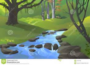 Cartoon Stream Clip Art