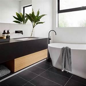 Modele Salle De Bain Carrelage : modele carrelage salle bain noir blanc accueil design et ~ Premium-room.com Idées de Décoration