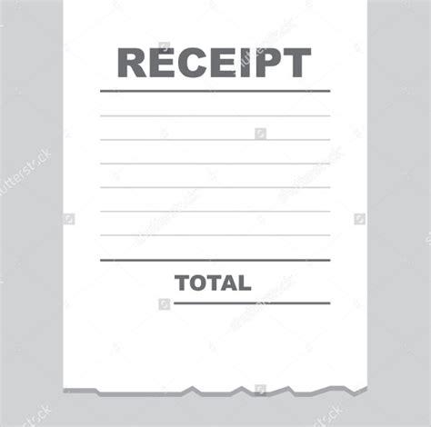 blank receipt templates  excel  vector eps