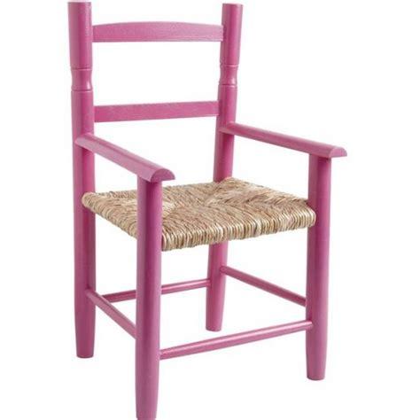 fauteuil enfant paille bois framboise la vannerie d