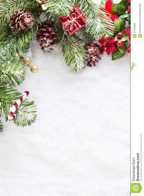christmas border  snow stock photo image