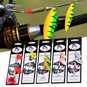 Pesca Esche Duro Metallo Spinner Esche Per Bass Trota