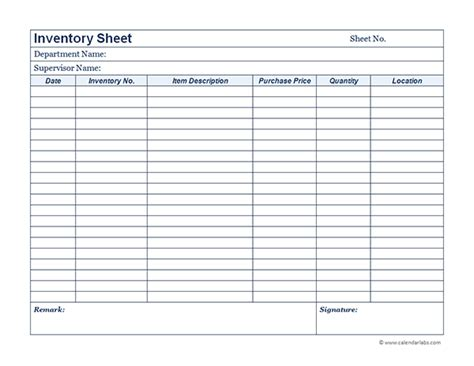 Quote Sheets Templates Business Inventory 01 Free Printable Templates