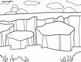 Coloring National Canyonlands Parks 79kb 1035 800px Alley Doodle sketch template