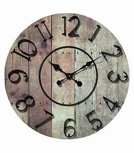 Horloge Murale Bois : horloge murale en bois et m tal noir style industriel ~ Teatrodelosmanantiales.com Idées de Décoration