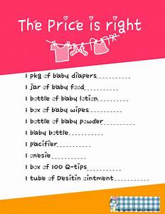 free printable price is right baby shower game template - free printable price is right game for baby shower
