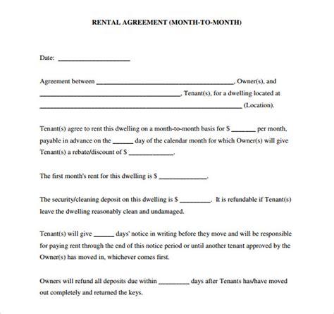 sample blank rental agreement   documents