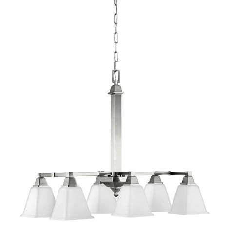 brushed nickel kitchen island lighting sea gull lighting denhelm 6 light brushed nickel island 7969