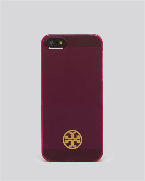 burch iphone 5 clear resin hardshell in purple