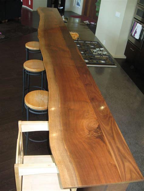 foot long  edge walnut bar constructed  barbo