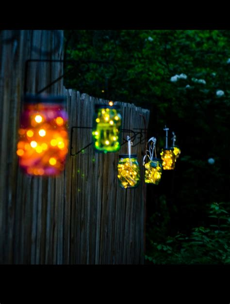 mason jar crafts with battery operated lights shellie at