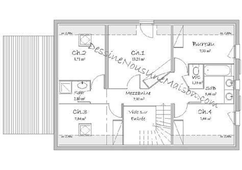 plan maison etage 4 chambres gratuit plans de maisons ou villas avec 5 chambres