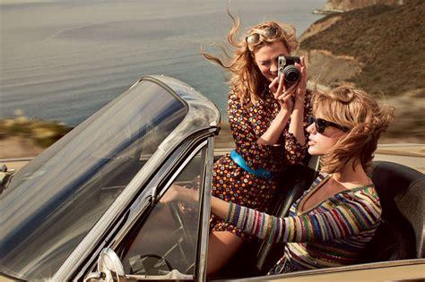 Taylor Swift & Karlie Kloss - Vogue MAgazine March 2015 ...