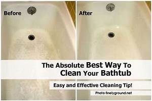 The absolute best way to clean your bathtub for How to clean bathroom tub