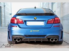 Frozen Blue BMW M5 with Prior Design's Widebody Kit