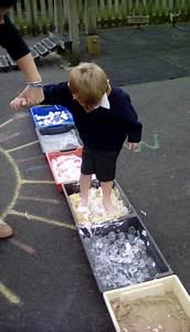 Nursery and Reception step into spaghetti on a sensory walk